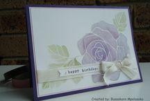 Rose wonder Stampin up / Stampin up rose wonder stamp set and framelits inspiration demo blog uk