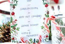 Kerst menukaart
