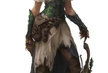 Fantasy characters / D&D, medieval fantasy, decent armors and clothing.