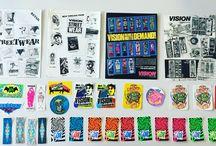 Skateboard stickers old school