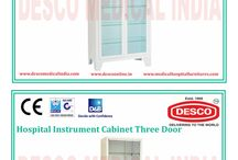 Hospital Instrument Cabinet / DESCO India is the leading manufacturer of Hospital Cabinets at wholesale prices. If you want any kind of hospital furniture at affordable prices than DESCO India is the right option for you.