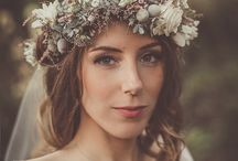 Wedding // Floral Crowns / Floral crowns can be classy, or fun, boho or modern. They are as diverse as the brides who wear them. So these ones that we have collected here on this board are supposed to show off what a floral crown can actually to for your overall wedding look.