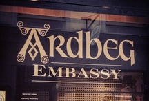 Ardbeg Embassies / This Board is not intended to be seen by persons under the legal alcohol drinking /buying age nor in countries with restrictions on advertising on alcoholic beverages / by Ardbeg Whisky