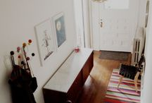 Hallway Decor / Hallways don't have to be boring and bland, as these lovely ones show... #home #decor