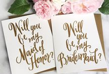 "Be My Bridesmaid / Bridesmaid Gifts and Ideas for asking your bridesmaid to stand by your side and witness your ""happily ever after."""
