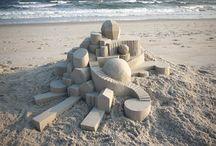 Sand castle building!