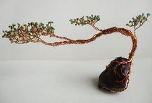 Árbol de Alambre y Cuentas//Wire Tree Beads//Life Wire Tree / by ✿Erika✿ Serrano