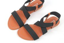 amazon:2016 Crisscross Strap Flat Sandals Shoes Black for Womens Summer Wear