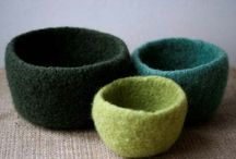 knitted/felted bowls