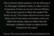 Salafiyyah / Quran and sunnah with the understanding of the salaf!