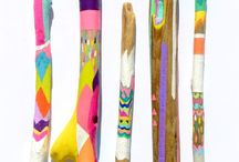 Painted Sticks and Stones