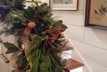 stair wreath Christmas