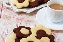 kétszinű virágos keksz linzer