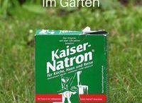 Natron im Garten