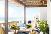 Beach house pergolas