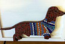 Mosaico de cachorro
