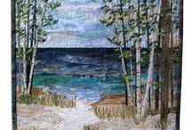 Confetti landscape quilt