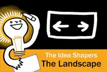 The Idea Shapers: The Landscape / In her 2016 book The Idea Shapers, Brandy Agerbeck makes visual thinking attainable and enjoyable through a set of 24 Idea Shapers. The Landscape is the second visual thinking concept in the first step, CHUNK.