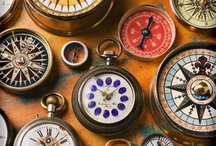 compass and clock faces