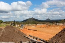 Our Projects: Glass House Mountains / A project we did overlooking the Glass House Mountains