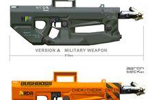 Andra vapen / Special vapen som handgr, eldkastare armborst etc.
