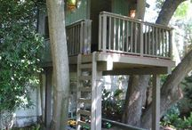 Grand kids tree houses and play houses