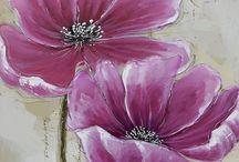 květiny-malba / květiny-malba