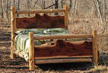 Log Rustic Bed