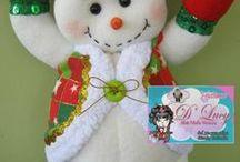 muñecos  arbolde navidad