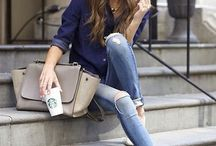 Jeans y blusa