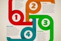Infographics vectors / Infographics templates in vector format.