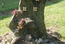 tree stumps with ideas