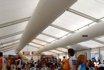 Marquees & Temporary Buildings / Fabric Ducting uses in Light Weight and /  or Temporary Spaces.