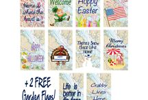 Shut The Front Door Bundles / Shut The Front Door by Unique Textile Printing offers a variety of garden flags, indoor and outdoor decor, welcome mats and more.  Check us out at www.uniquetextileprinting.us Farm, Military, Show, Swimming, Baseball, Softball, Sports, Georgia, Coastal, Billiard, Mascots, Sailing, Christmas, Halloween, Spring, Holidays, Birthday, Wedding, Gifts, Mother's Day.