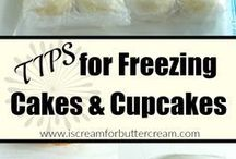 Freezing cakes and cupcakes