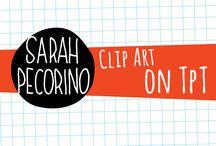My Clip Art on TpT / Check out my colorful watercolor style clip art on Teachers Pay Teachers... https://www.teacherspayteachers.com/Store/Sarah-Pecorino-Illustration