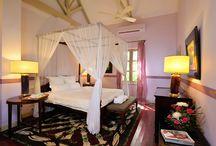 Stylish Rooms of Villa Maly / Hotel Luang Prabang Villa  Maly.  33 rooms, swimming , spa, restaurant.