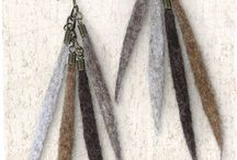 wool earings