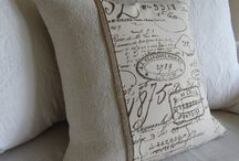 Vintage cushions and blankets