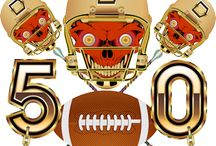 """Super Bowl 50 by Digital Art Expressions / The 2016 Super Bowl, also known as Super Bowl 50, is set to take place on Feb. 7, 2016 at Levi's Stadium in Santa Clara, California. The NFL won't refer to the game as """"Super Bowl L,"""" dropping the Roman numerals, which have been used to describe the previous 49 Super Bowls.The Cost of a single Design $100.00 to $500.00, Your cost """"FREE on Zazzle"""", why? No setup fee and you don't have to pay for my services! One of a kind design from Digital Art Expressions"""