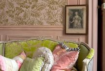 Charming Cottage Interiors / Cozy, charming, collected decor with romantic, vintage touches that inspire / by Girl in Pink