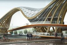 eco green pedestrian bridge