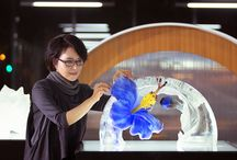 Chase Mastery/ Loretta Yang / Glass Artist Loretta Yang featured in 2015 Chase Bank Mastery Campaign