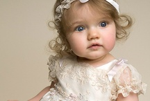 christening gowns and flower girls