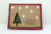 SU! Festival Trees Bundle / Bundle includes a Photopolymer Stamp Set with 13 Stamps and a matching tree punch.  Only $27.95