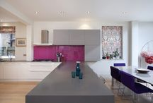 Kuche Melville Road SW13 / Client: Mr Mark Burgess Architect: Client Scope: Design/ Manufacture/ Installation Completion: July 2015 Finish: Lacquer (Soft Touch) Worktop: Corian  Appliances: Siemens   Stunning makeover for this West London property http://www.kuchedesign.co.uk/projects/melville-road-sw13