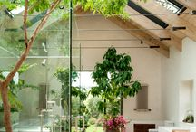 green architecture and interior