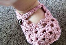 Scarpine bimbo crochet