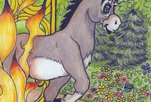 The Donkey and the King / Children's picture book. Available on Amazon. http://bit.ly/Amazon_Pinterest_Link Linda DiFranco did all the illustrations for my book.