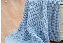 Baby strik tæppe